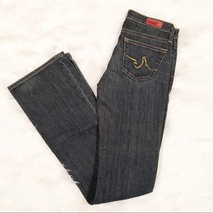 AG Adriano Goldschmied angle dark jeans 25